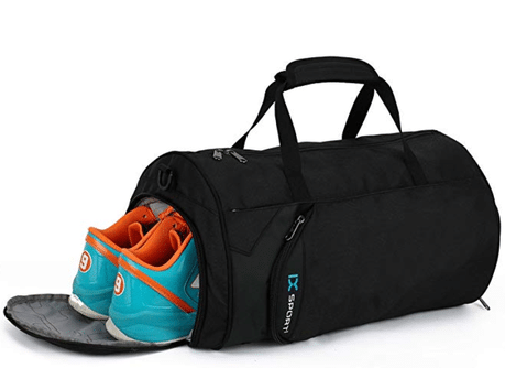 Gym bag with shoe compartment.